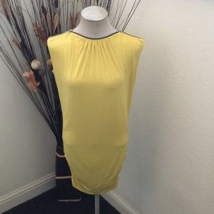 ⭐️INC Yellow Knee Length Zipper Dress or Shirt